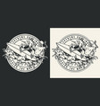 surfing vintage round badge vector image vector image