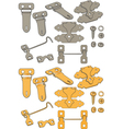The complete set of latches vector image vector image