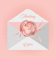 traditional postal envelope with romantic wish vector image