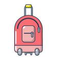 travel bag holiday icon cartoon style vector image