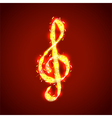 treble clef notes musical background vector image