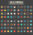 ui and multimedia big icon set vector image