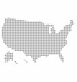 united states with polka dots vector image vector image