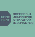 video game pixel font vector image vector image