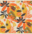 vintage color jungle foliage seamless pattern vector image vector image