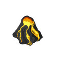 volcano in isometric style isolated image vector image