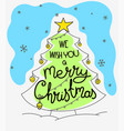 we wish you a merry christmas doodling style vector image