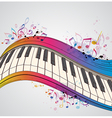 Music bright background with piano vector image