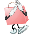A pink bag vector image vector image