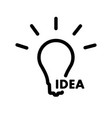 a simple light bulb icon showing the idea vector image