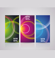 abstract banners with rainbow lights vector image vector image