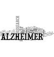 alzheimer memoria demencias text word cloud vector image vector image