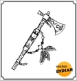 American Indians tomahawk vector image vector image
