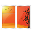 Autumn window vector image