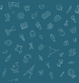 back to school pattern with hand drawn doodles vector image