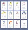 beautiful girls in hats vertical calendar 2018 vector image vector image