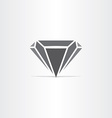 black diamond stylized icon vector image
