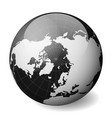 black earth globe focused on arctica with thin vector image vector image