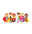 boys and girls in superhero vector image