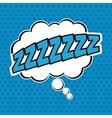 Bubble pop art of sleep design vector image vector image
