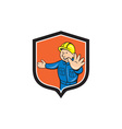 Builder Carpenter Hands Out Cartoon vector image vector image
