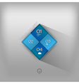 business squares blue vector image vector image