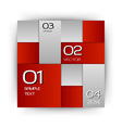 business squares red with text vector image vector image