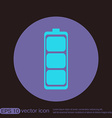 charged battery symbol a charged battery icon vector image
