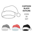 christmas cap icon in cartoon style isolated on vector image vector image