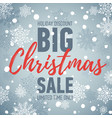 christmas sale bannerbig sale 50holiday discount vector image