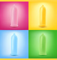 colorful set latex condoms vector image vector image