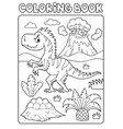 coloring book dinosaur composition image 4 vector image vector image