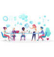 concept of business meeting in coworking office vector image