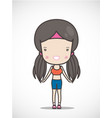 cute girl exercising vector image vector image
