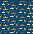 cute seamless cosmic pattern for kids vector image vector image