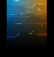 dark blue orange technology futuristic background vector image vector image