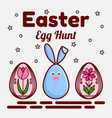 easter egg hunt theme a flat icon of a cute vector image