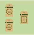 eco-product labels isolated on light background vector image