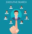 flat banner executive search recruiting agencies vector image vector image