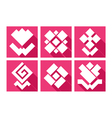 flowers geometry icons vector image vector image