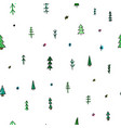 forest christmas tree simple seamless pattern vector image vector image