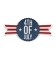Fourth of July realistic Banner vector image vector image