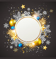 golden decorations on a black background vector image