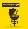 grill icon design vector image vector image