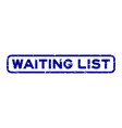 grunge blue waiting list word square rubber seal vector image vector image
