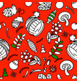 hand drawn seamless pattern for christmas and vector image vector image