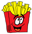 happy french fries vector image vector image