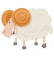 happy ram animal character vector image vector image