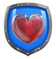 heart shield concept vector image