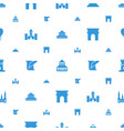 history icons pattern seamless white background vector image vector image